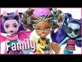 Monster High Dolls Family Little Sisters for Draculaura  Clawdeen and Lagoona Doll Review