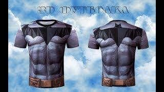 Обзор мужской  футболки с 3D принтом с aliexpress.