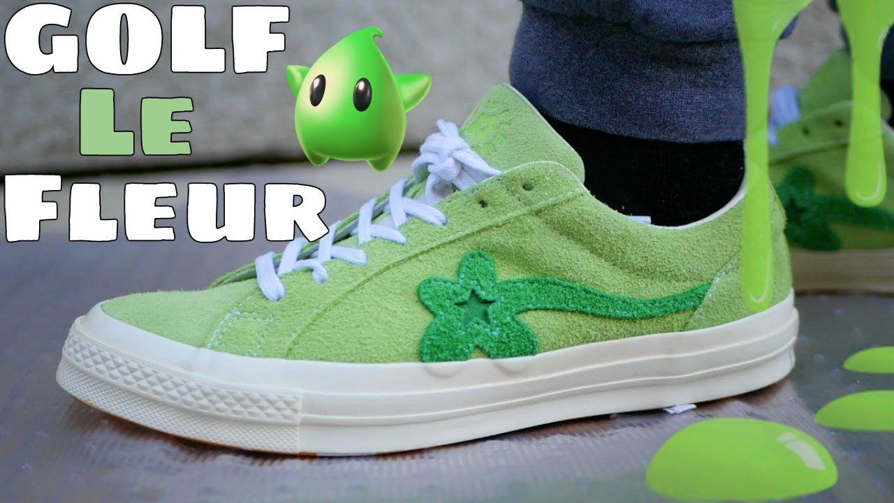 Golf Le Fleur X Converse Jade Green W On Feet Review