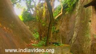 Rock cut temple, cave, Kaviyoor, ancient Hindu temple, Thiruvalla, Pathanamthitta, Kerala, India