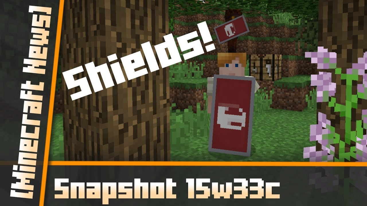 Snapshot 15w33c Minecraft 1.9 - Craft Custom Shields - YouTube