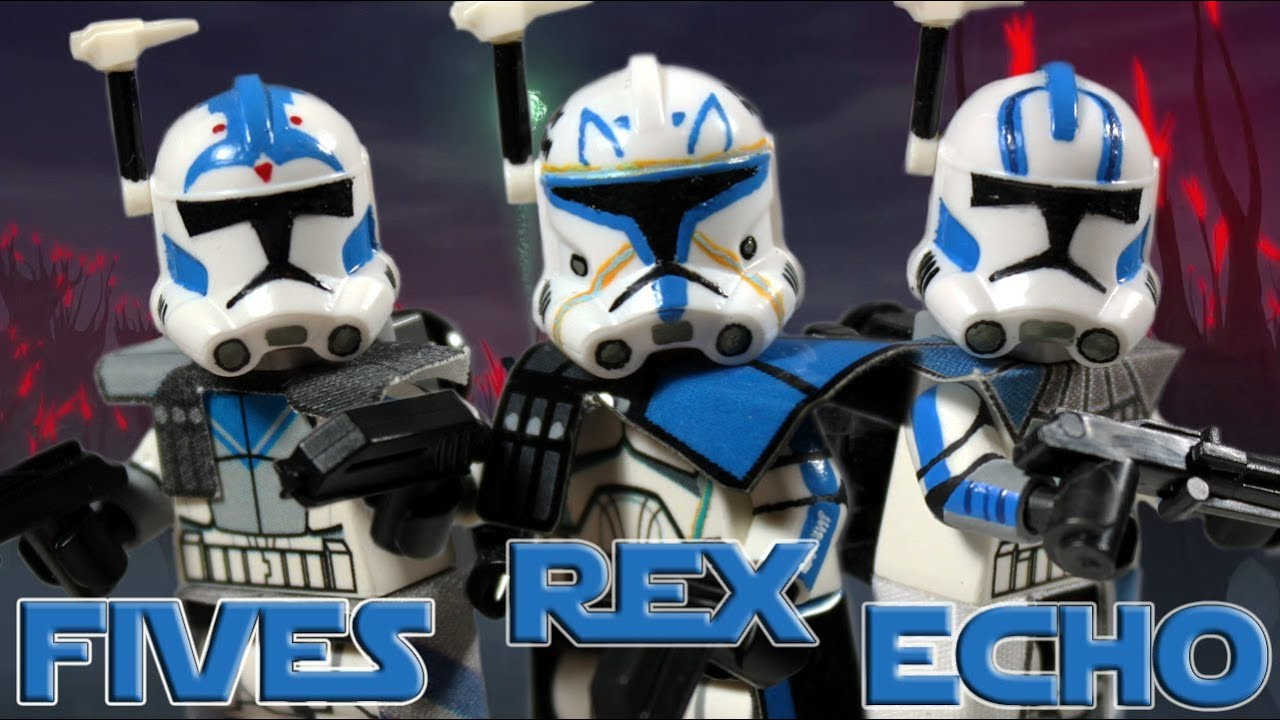 Custom LEGO Star Wars The Clone Wars  Captain Rex ARC Trooper