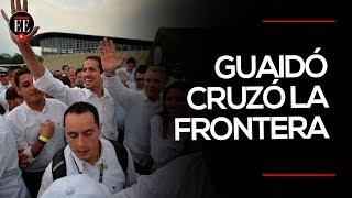El momento en el que Juan Guaidó cruzó la frontera para ir al Venezuela Aid Live | El Espectador