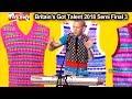 Robert White Singer Comedian SINGS ABOUT JUDGES  Britain's Got Talent 2018 Semi Final 3 BGT S12E10