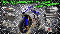 15-18 Yamaha R1 Exhaust Sound Comparison   Sportbiketrackgear.com