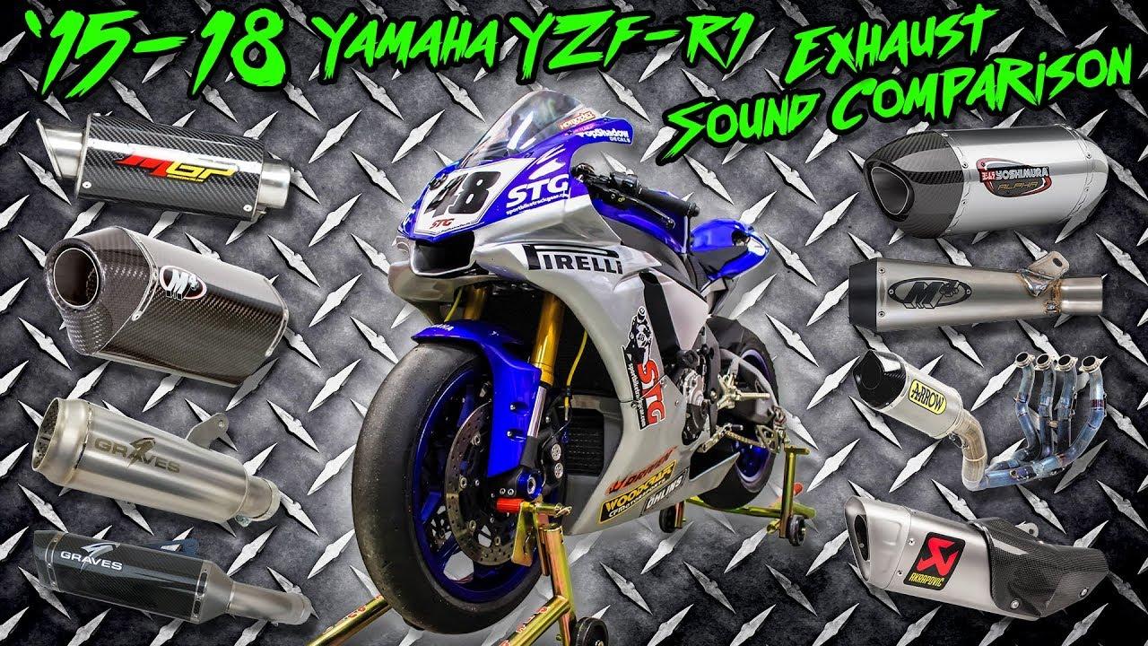 15 18 Yamaha R1 Exhaust Sound Comparison Sportbiketrackgear Com
