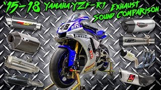 15-18 Yamaha R1 Exhaust Sound Comparison | Sportbiketrackgear.com