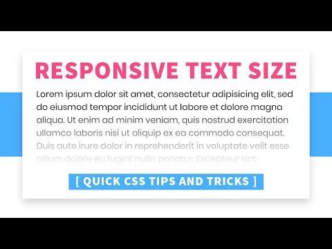 Responsive Font Size | CSS Vw Unit