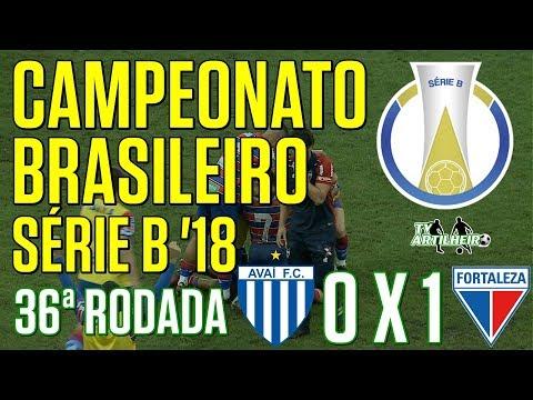 [Série B '18] Avaí FC 0 X 1 Fortaleza EC | Melhores Momentos | Narr.: Irismar França | TV ARTILHEIR⚽
