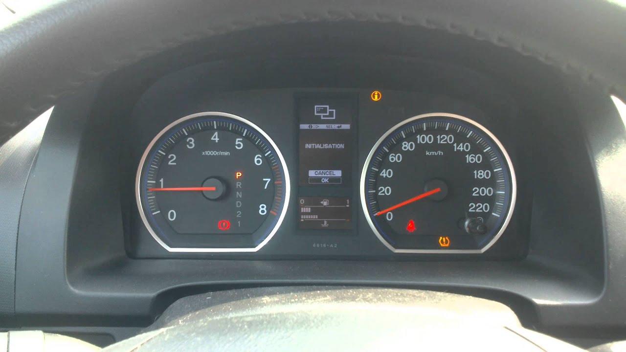 Как обнулить индикатор давления в шинах HONDA CR-V 2008 ...