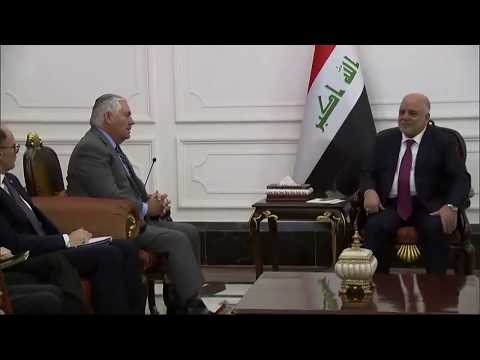 WATCH: Rex Tillerson Remarks at the Office of Iraqi Prime Minister Haider al Abadi