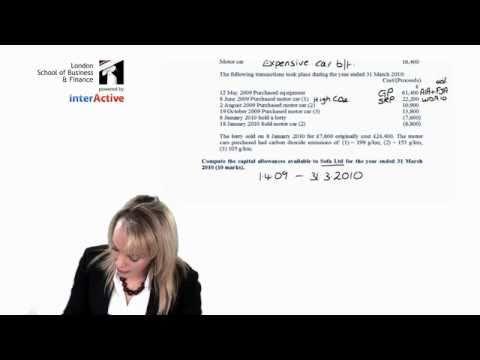 LSBF ACCA F6 Capital Allowance Question Debrief with Carolyn Napier