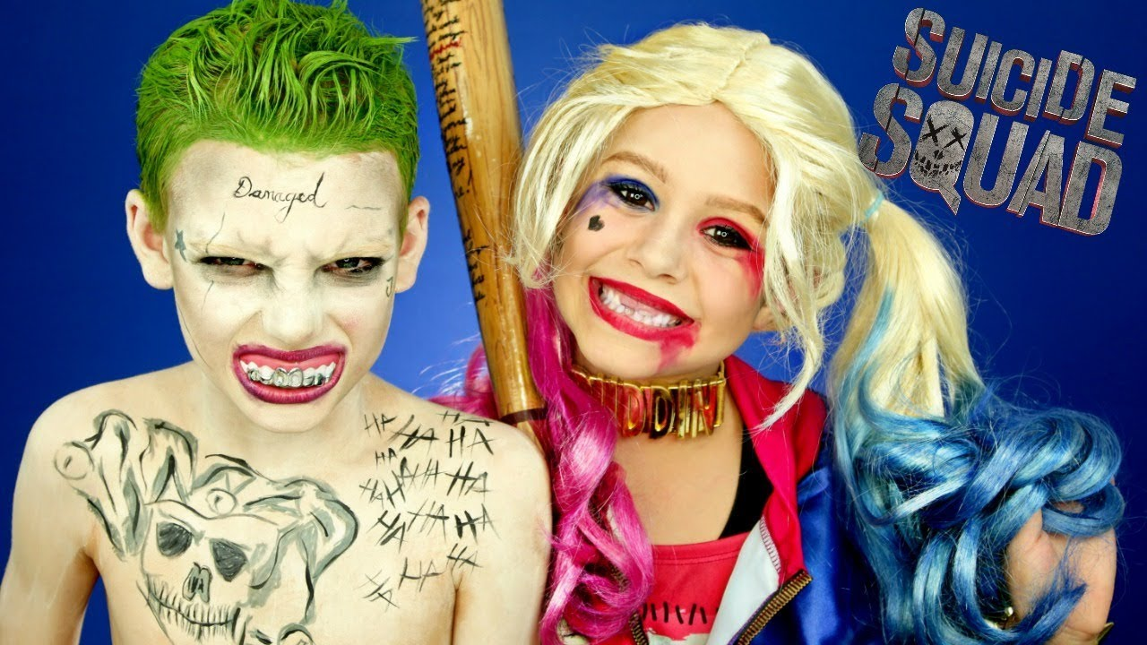 Harley Quinn And Joker Suicide Squad Makeup And Costumes