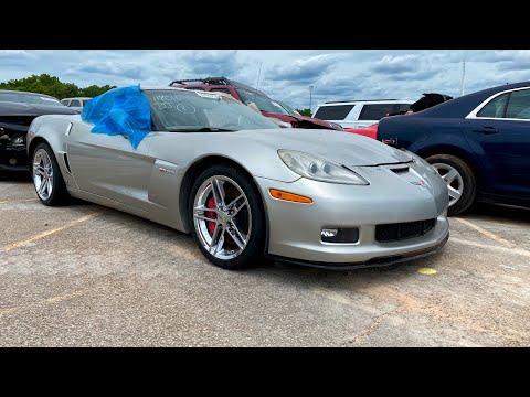 Copart Walk Around + Carnage 8-4-2020 + 2006 Chevy Corvette Z06