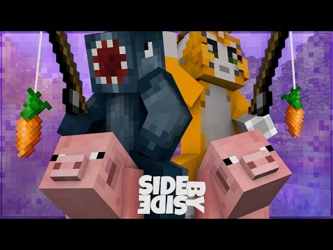 Minecraft Xbox – Side By Side Challenge – Piggy Puzzle! [2]