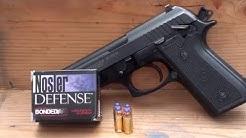 Nosler Defense 9mm +P 124gr Bonded JHP ballistic gel test