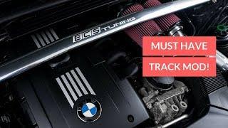BMW E90 STRUT BAR INSTAL! NEW MOD! (ECS)