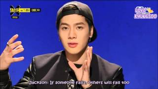 [ENG] 150224 Mnet 4 Things Show with Amber: GOT7 Jackson Cut