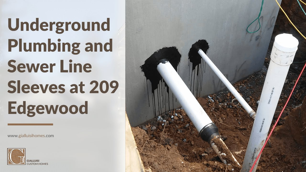 The Installation Of Underground Plumbing And Sewer Line