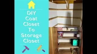 DIY Coat Closet To Storage Closet