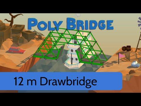 poly bridge level 15 12m draw bridge youtube. Black Bedroom Furniture Sets. Home Design Ideas