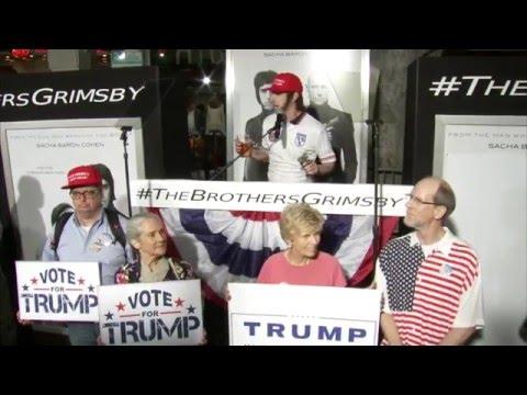 Sacha Baron Cohen Endorses Donald Trump at The Brothers Grimsby LA Premiere