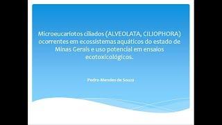 UFJF/SEMIC 2018 - MICROEUCARIOTOS CILIADOS (ALVEOLATA,CILIOPHORA) OCORRENTES EM ECOSSISTEMAS...
