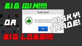 ROBLOX Trading to Dream Hats: SENDING A SUPER RISKY TRADE!!!!! #10