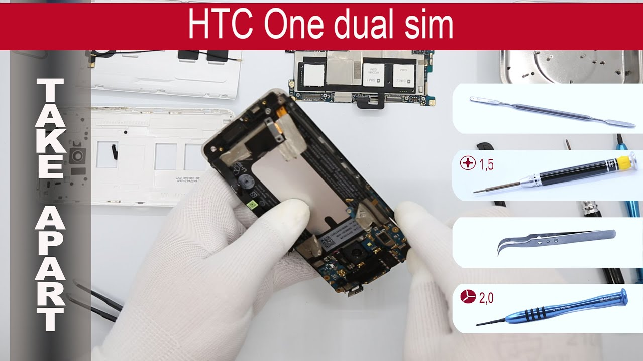 How to disassemble 📱 HTC One Dual (802w 802t, 802d ...