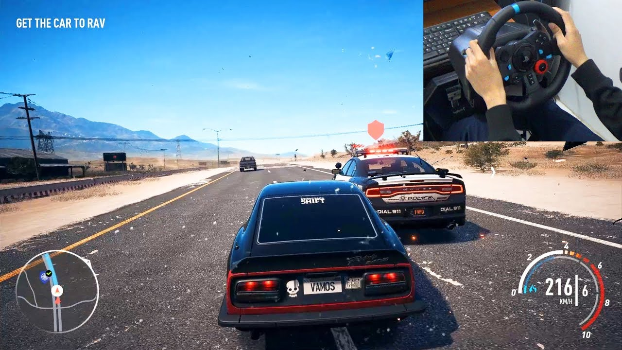 NFS Payback Abandoned Car 240z + Logitech g29 gameplay