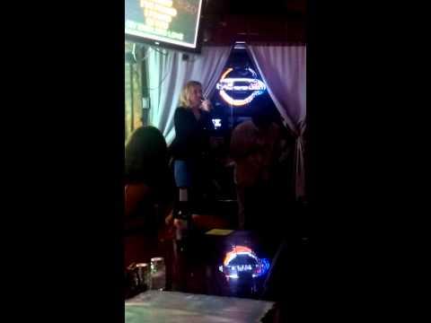 Brian and Kimberly sing Karaoke