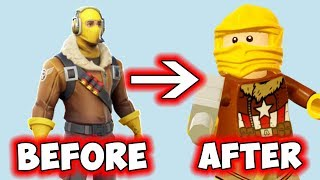 LEGO Fortnite Battle Royale Raptor Skin Minifigures