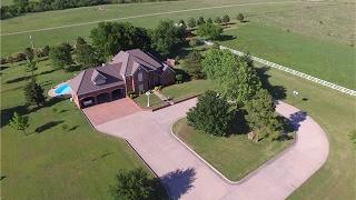 31+ acres, LUXURY 2-story home + Bldgs + Pool + Pond in SULPHUR OK