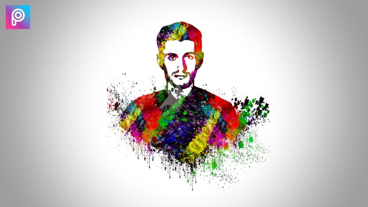 Picsart Portrait Color Splash || Picsart Photo Editing Tutorial | color splash effect ||  Picsart