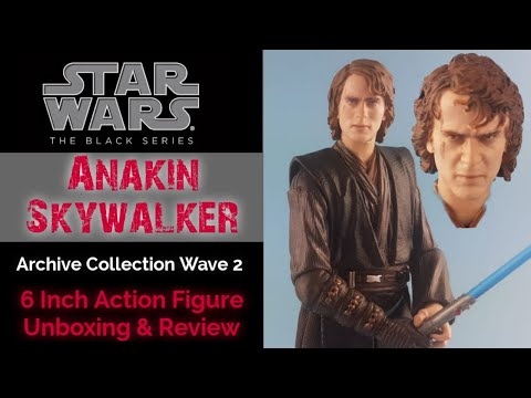 HD Black Series Archive Anakin Skywalker Action Figure Unboxing