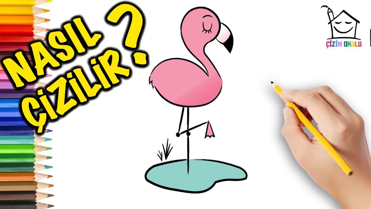 Nasıl Çizilir? - Flamingo - Resim Çizme - ÇİZİM OKULU