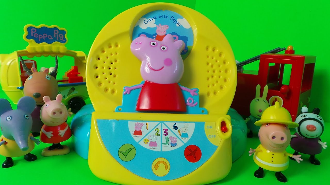 Peppa Pig Guessing Game UK Toy with Suzy Sheep, George Pig ...