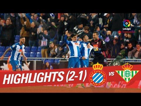 Resumen de RCD Espanyol vs Real Betis (2-1)