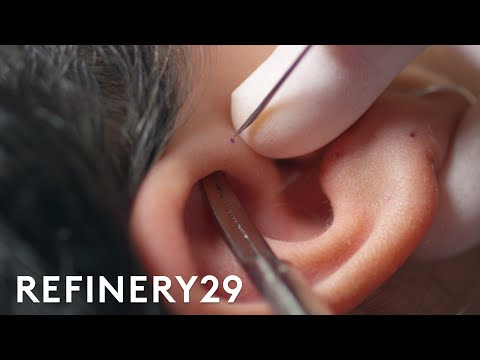 This Cartilage Piercing Has Almost Zero Aftercare | Macro Beauty | Refinery29