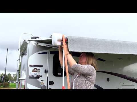 How To Setup Your Awning Stabiliz R On A Carefree Patio Awning Youtube