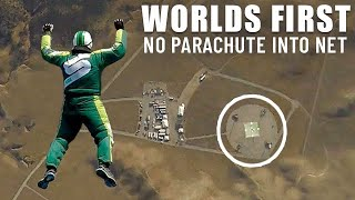 World First  Skydiver Luke Aikins Jumps 25000 Feet Into Net With No Parachute
