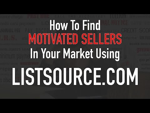 How To Find Motivated Sellers Using ListSource | Listsource.com
