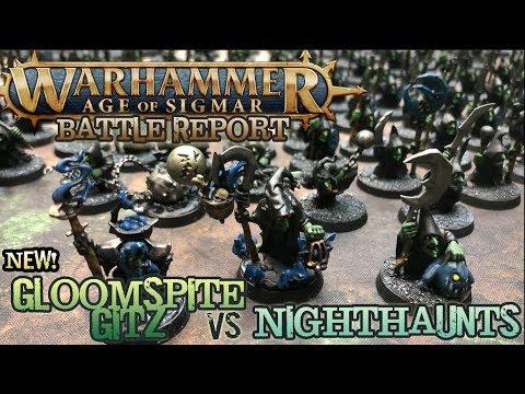 Warhammer: Age of Sigmar 2E Battle Report - Ep 11 - NEW Gloomspite Gitz vs. Nighthaunts