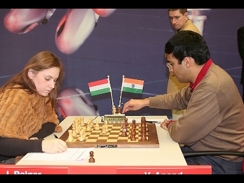 Judit Polgar crushes Vishy Anand with amazing two piece Sacrifice