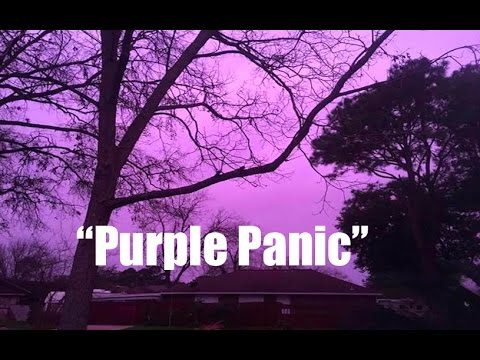 """""""Purple Panic""""   Strange Sky """"Freaks Out"""" Citizens and Birds of S Texas!"""