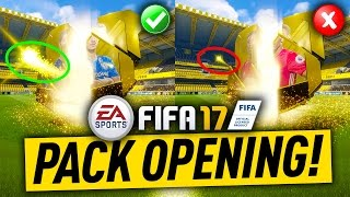 FIFA 17 PACK OPENING! GOOD PACKS VS BAD PACKS! ANIMATION DIFFERENCES!!
