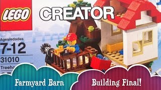 Farmyard Barn Building Part 2 Final Lego Treehouse Creator Build 3 Different Houses From 1 Lego Set