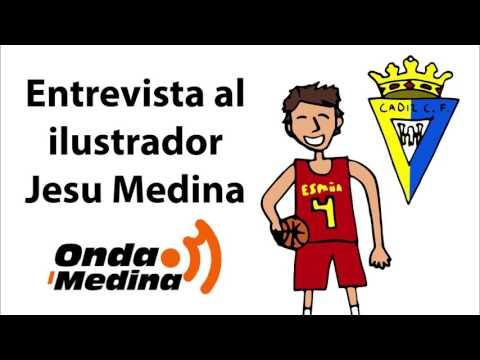 Entrevista al Ilustrador Jesu Medina en la Radio 📻 Vídeos de Pau Gasol y el Himno del Cádiz C. F.