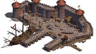 Как построить Морской Порт в Minecraft [Средневековье]