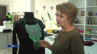 Башкирский дизайнер создает этнические нагрудники из бисера и камней
